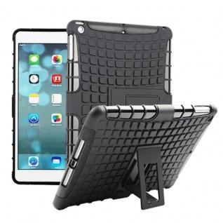 Hybrid Outdoor Schutzhülle Cover Schwarz für Apple iPad Air Tasche Case Hülle