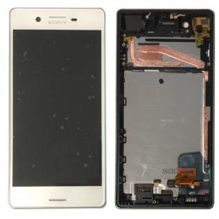 Sony Display LCD Komplett mit Rahmen für Xperia X F5121 F5122 Weiß Ersatzteil