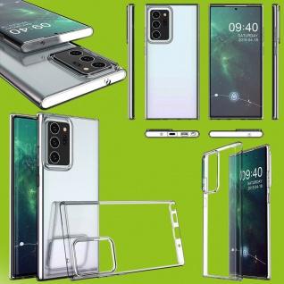 Für Samsung Galaxy Note 20 Ultra Silikon TPU Transparent Handy Tasche Hülle Etui