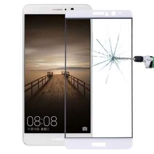 Premium 0, 3 mm gebogenes H9 Hartglas Weiß Folie für Huawei Mate 10 Schutz Neu