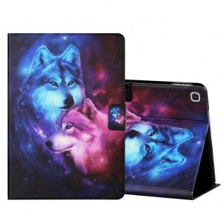 Für Samsung Galaxy Tab A 10.1 2019 Motiv 1 Tablet Tasche Kunst Leder Hülle Etuis