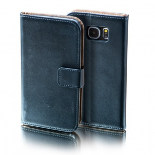 Schutzhülle Schwarz für Samsung Galaxy S7 Plus Bookcover Tasche Hülle Case Etui