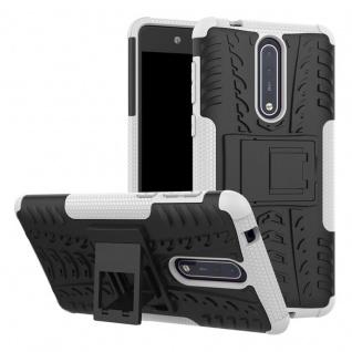 Hybrid Case 2teilig Outdoor Weiß Tasche Hülle für Nokia 8 Schutz Etui Cover Neu