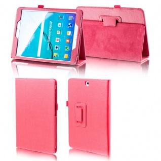 Für Samsung Galaxy Tab A 10.5 T590 T595 Rot Kunstleder Hülle Cover Tasche Case