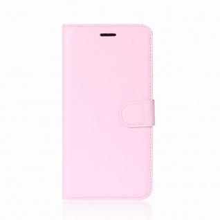 Tasche Wallet Premium Rosa für Wiko Sunny 2 Plus Hülle Case Cover Etui Schutz - Vorschau 2