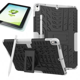 Hybrid Outdoor Hülle Weiß für Apple iPad Pro 10.5 Tasche + 0.4 H9 Panzerglas Neu