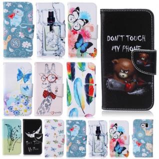 Bookcover Wallet Muster für Samsung Galaxy Tasche Hülle Case Etui Cover Zubehör