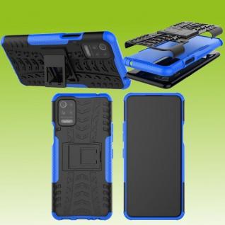Für LG K42 / K52 Outdoor Blau Handy Tasche Etuis Hülle Cover Case Schutz Zubehör