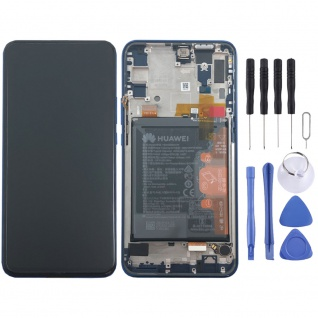 Huawei Display LCD Rahmen für P Smart Z Service 02352RXU Sapphire Blue Batterie