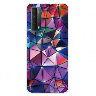 Für Huawei P Smart 2021 Silikon TPU Color Blocks Handy Hülle