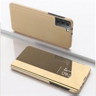 Für Samsung Galaxy S21 Plus View Smart Cover Hülle Gold Handy Tasche Etuis Case