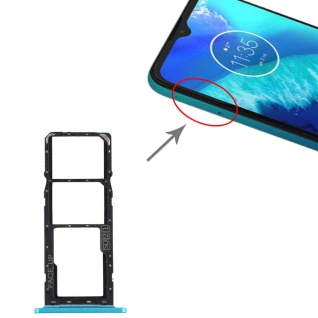 Dual Sim Card Tray + Micro SD Card Tray für Motorola Moto G8 Power Lite Grün