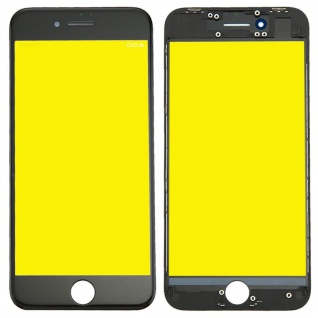Display Glas für Apple iPhone 8 4.7 LCD Displayglas + Rahmen + OCA Kleber Black