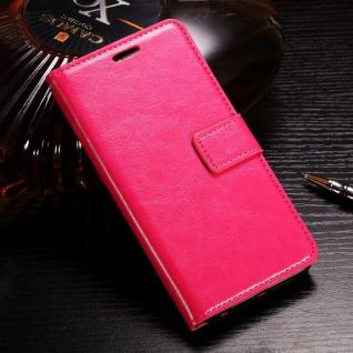 Tasche Wallet Premium Pink für Huawei Honor 9 Lite Hülle Case Cover Schutz Etui
