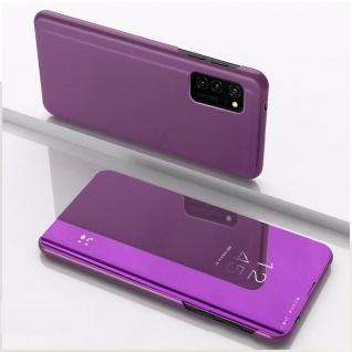 Für Huawei P Smart 2021 View Smart Cover Hülle Magenta Handy Tasche Etui Wake UP