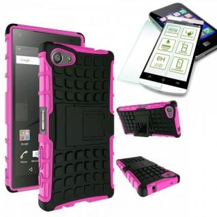 Hybrid Case Pink für Sony Xperia Z5 Compact 4.6 Zoll + 0.3 H9 Hartglas Tasche