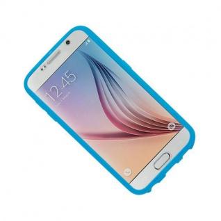 Design Cover mit Frontabdeckung Blau für Samsung Galaxy S6 G920 G920F Tasche Neu - Vorschau 4