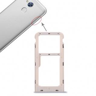 Für Huawei Honor 6A Karten Halter Sim Tray Schlitten Holder Silber Reparatur Neu