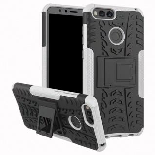 Hybrid Case 2teilig Outdoor Weiß Tasche Hülle für Huawei Honor 7X Etui Cover Neu - Vorschau