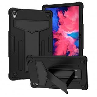 Für Lenovo Tab P11 11.0 Tab-J606F aufstellbare Tablet Tablet Schutzhülle Schwarz