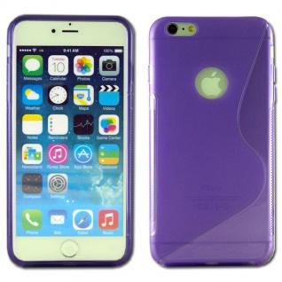 Silikon Case S-Line Bull Eye Lila für Apple iPhone 6 Plus 5.5 Hülle Cover Neu