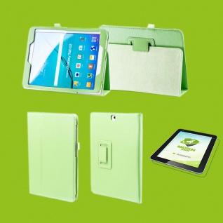 Für Samsung Galaxy Tab S5e 10.5 T720F Grün Etuis Tasche Kunst Leder + H9 Glas