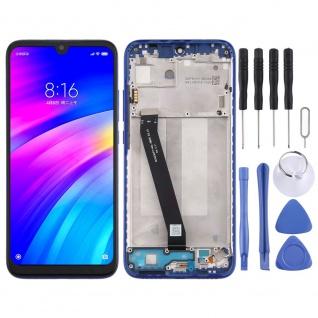 Für Xiaomi Redmi 7 Display Full LCD Touch mit Rahmen Reparatur Blau Ersatz Neu
