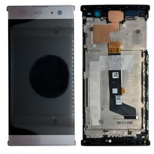 Sony Display LCD Komplett mit Rahmen für Xperia XA2 Silber Ersatz Reparatur Neu