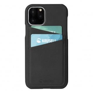 Krusell Sunne Card Cover für Apple iPhone 11 Pro Max Schwarz Tasche Hülle Case