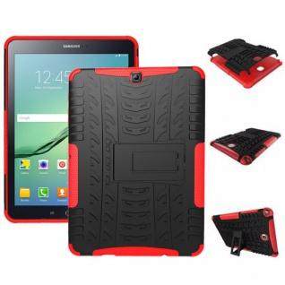 Hybrid Outdoor Schutzhülle Rot für Samsung Galaxy Tab S2 9.7 T810 Tasche Hülle