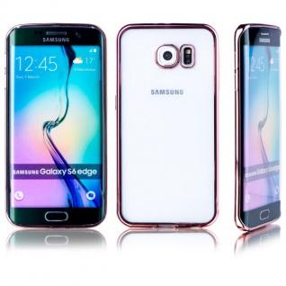 Premium TPU Schutzhülle Pink für Samsung Galaxy S6 Edge Plus G925F Tasche Neu