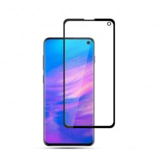 2x 4D Full H9 Curved Hartglas Schwarz Folie für Samsung Galaxy S10e G970F Schutz