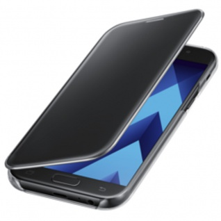 Samsung Clear View Wallet Tasche Kunstleder EF-ZA520 Galaxy A5 A520F 2017 Black
