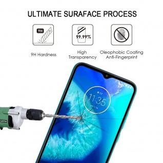 Für Motorola Moto G8 Power Lite 3D Display H9 Hart Glas Schwarz Folie Panzer Neu