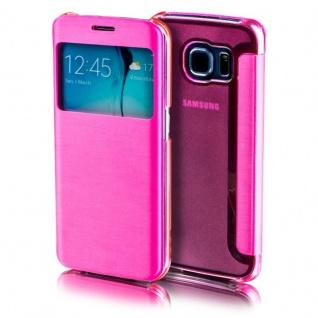 Für Apple iPhone 7 4.7 Smartcover Window Pink Tasche Hülle Case Etui Schutz Neu
