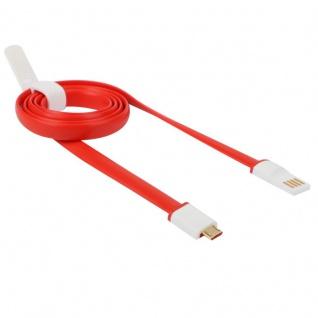 OnePlus One Datenkabel Datacable Micro USB Lade Kabel Ladekabel Rot Weiss Neu