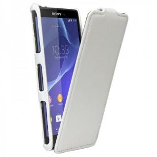 Exklusive Design Tasche für Sony Xperia Z3 Compact D5803 M55W Tasche Case weiss