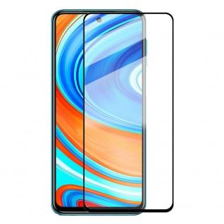Für Xiaomi Redmi Note 9S 2x 3D Display Full H9 Hart Glas Schwarz Folie Panzer