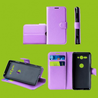 Für Samsung Galaxy A50 6.4 Zoll Tasche Wallet Premium Lila Hülle Etuis Cover Neu