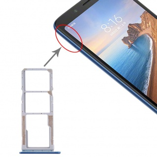 Sim Card Tray für Xiaomi Redmi 7A Dunkel Blau Karten Halter Holder Ersatzteil