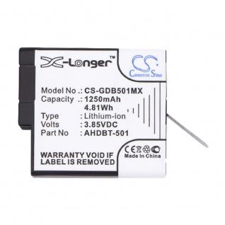X-Longer Akku Batterie Battery für GoPro Hero 5 6 7 ersetzt 601-10197-00 Ersatz