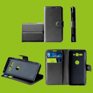 Für Oppo Realme 5 Pro Handy Tasche Wallet Schwarz Hülle Etuis Kunst-Leder Cover
