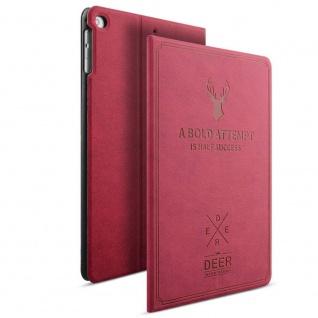 Design Tasche Backcase Smartcover Pink für NEW Apple iPad 9.7 2017 Hülle Case
