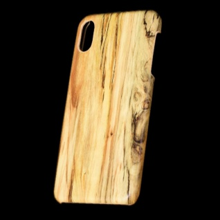 Für Apple iPhone XS MAX 6.5 Zoll Holz Wald Muster 3 Tasche Hülle Hard Cover Neu