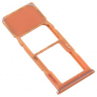 Sim Karten Halter für Samsung Galaxy A70 Orange Card Tray Micro SD Ersatzteil - Vorschau 3