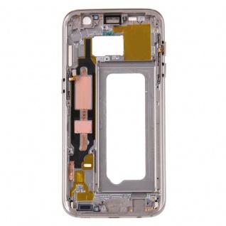 Gehäuse Rahmen Deckel kompatibel Samsung Galaxy S7 G930 G930F Kleber Gold - Vorschau 2