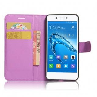 Tasche Wallet Premium Lila für Huawei Honor 6C Hülle Case Cover Etui Schutz Neu - Vorschau 4
