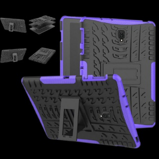 Hybrid Outdoor Schutz Hülle Lila für Samsung Galaxy Tab A 10.5 T590 Tasche Case