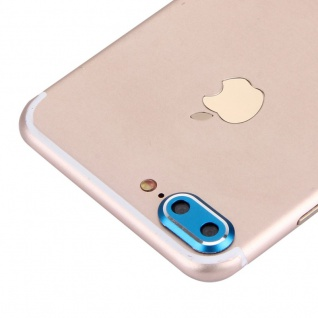 Kameraschutz für Apple iPhone 7 Plus Kamera Schutz Kameraring Protector Blau