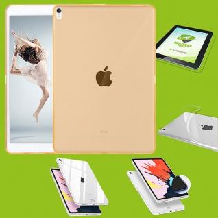 Für Apple iPad Pro 12.9 Zoll 2018 Gelb Hülle Tasche Cover + H9 Hart Glas Case